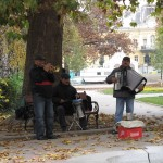 Street musician in Sofia