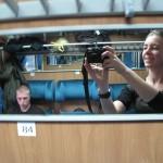 In the train to Skopje
